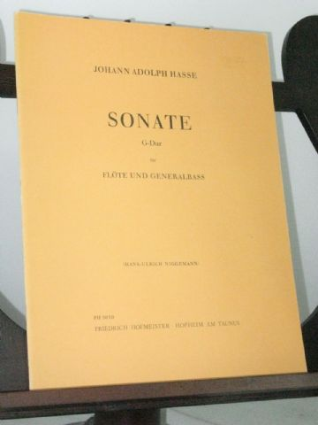 Hasse J A - Sonata in G for Flute & Bass